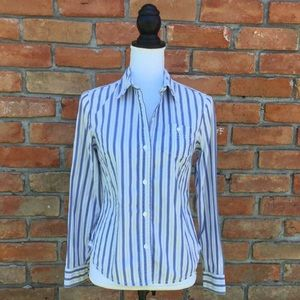 GAP Striped Button Up Collared Shirt